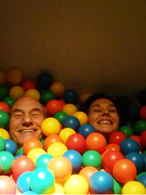 Sunny Ozell Patrick Stewart Marriage Twitter Picture